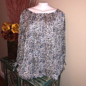 Tops - Patterned Blouse with glittery stripe